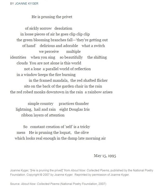 kyger poem